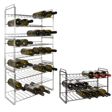 Metal wine rack SAUVIGNON, chrome coated