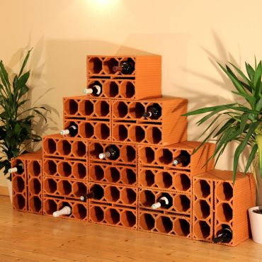 Clay wine rack NIMES
