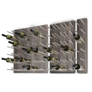 Wall wine rack system ESTABA, wood & metal, wenge
