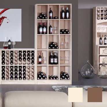 Wine rack PRESTIGE 2 made of solid oak