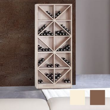 Wine rack PRESTIGE 4 made of solid oak