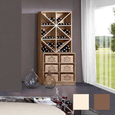 Wine rack PRESTIGE 7 made of solid oak