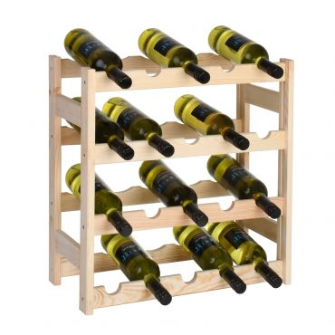 Wooden wine rack SIMPLEX, model 1, untreated