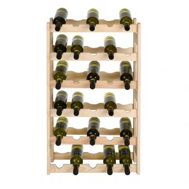 Wooden wine rack SIMPLEX, model 2, untreated
