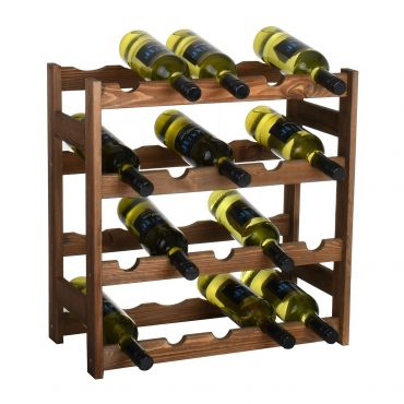 Wooden wine rack SIMPLEX model 1, brown stain