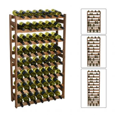 Wooden wine racks SIMPLEX, brown stain