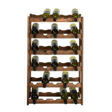 Wooden wine rack SIMPLEX, model 2, brown stain
