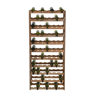 Wooden wine rack SIMPLEX, model 4, brown stain