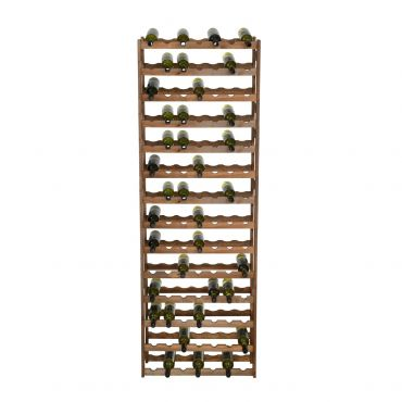 Wooden wine rack SIMPLEX, model 5, brown stain