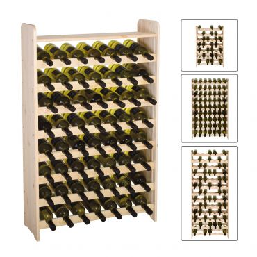 Wooden wine rack OPTIPLUS, untreated wood