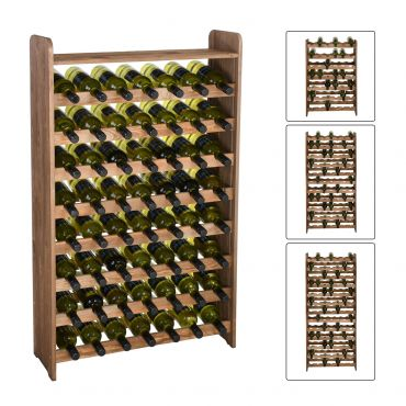 Wooden wine racks OPTIPLUS, brown stain