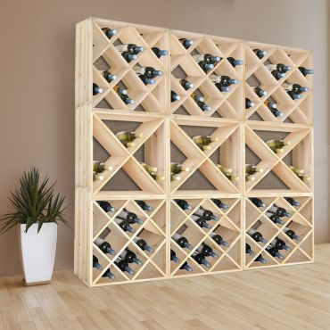 Wine rack system 50cm, natural - modular