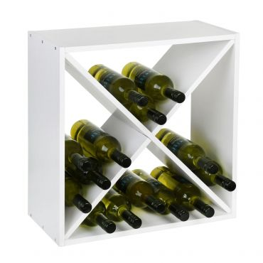 Wine rack 52 cm, X-cube, white painted