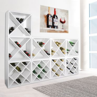 Wine rack system 52 cm, white painted