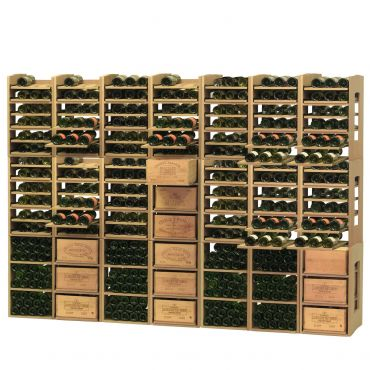 CAVICASE wine racking system, wooden boards