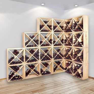 Wooden wine rack CUBE 48