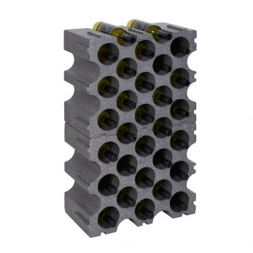 Synthetic wine rack STONE 2 piece set for 30 bottles