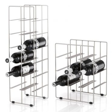 Wine rack PILARE, nickel plated metal