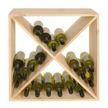 CUBE 52 wine rack system, untreated, module X