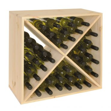 CUBE 52 wine rack system,untreated wood