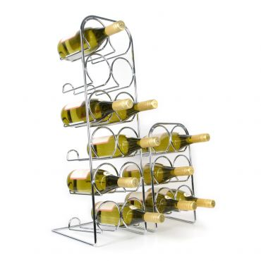 Wine rack FLASKA, Chrome-plated