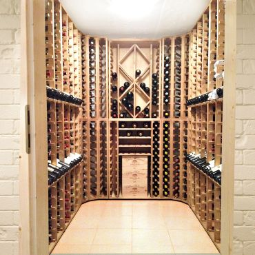 Wine rack PROVINALIA, oak, modular wine rack system