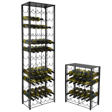 Metal wine rack system RUSTIKO