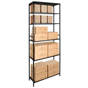 Storage unit BLACK PURE 4 shelves, 2 parts