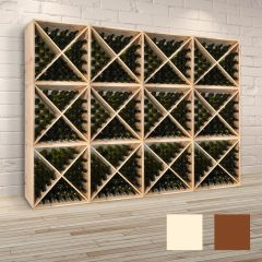 Wine rack system X-60, natural wood