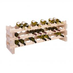 Wooden wine rack CASANOVA, 3 rows, 10 bottles each