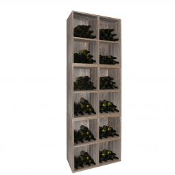 Rack module with 4 inserts, wenge, 3 piece set