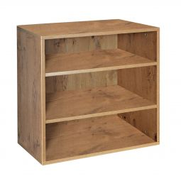 Rack module deep with 2 shelves, country oak