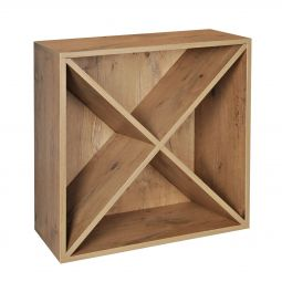 Rack module with wooden X, country oak