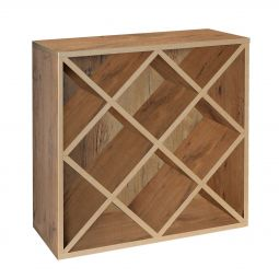 Rack module, diamond shaped inserts, country oak