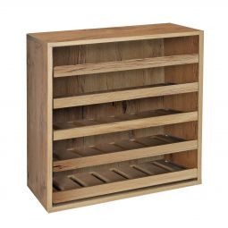 Module with single bottle sliding shelves, country oak