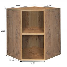 Corner module,  country oak