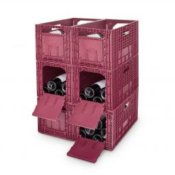 WINEBOX storage, plastic, red, 6 piece set
