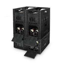 Wine rack WINEBOX, black, 6 piece set